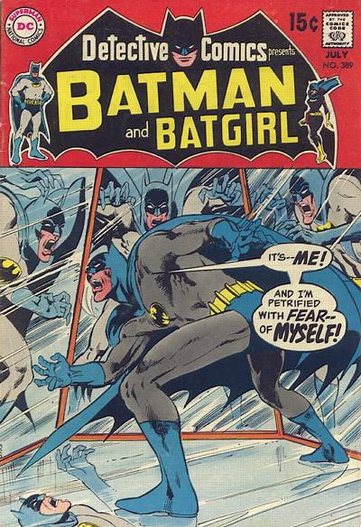 Detective #389, the first solo Batman cover where Adams really cuts loose.