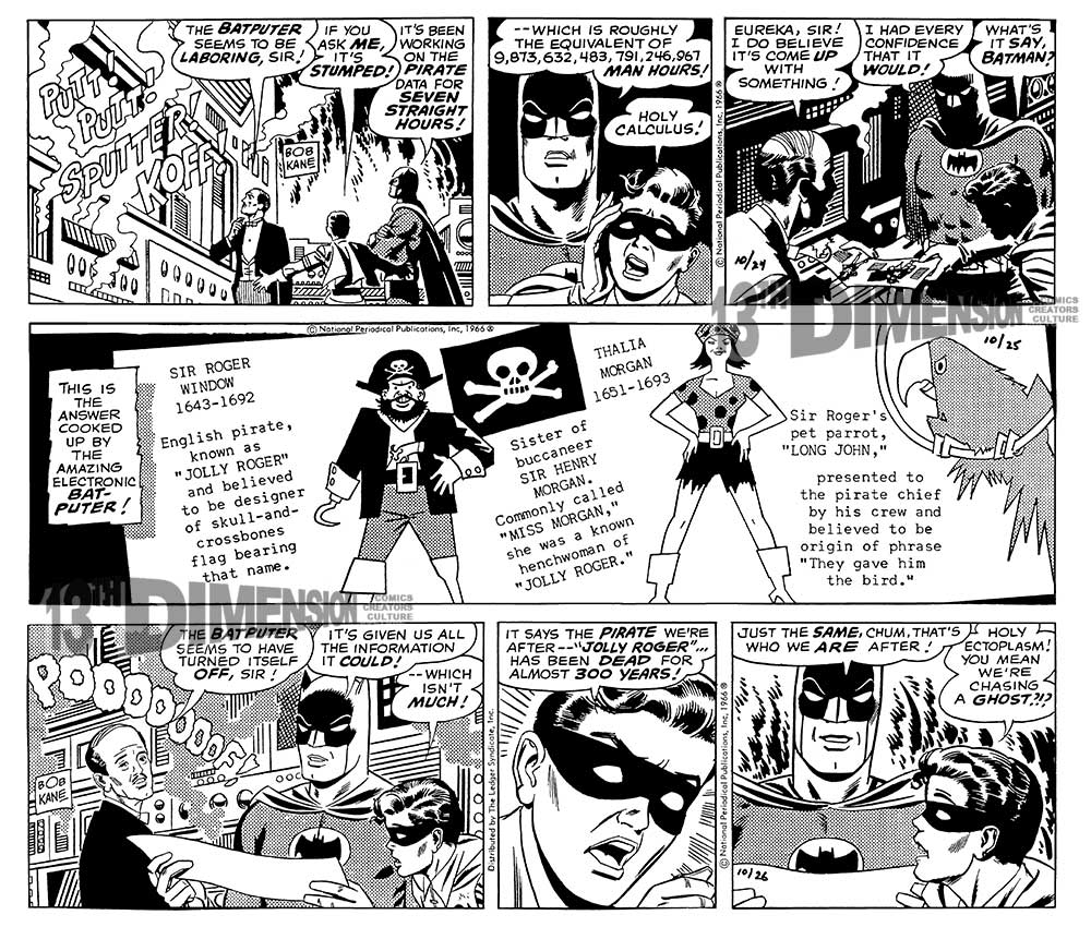 The strips, after restoration. Batman ™ and © 2014 DC Comics.