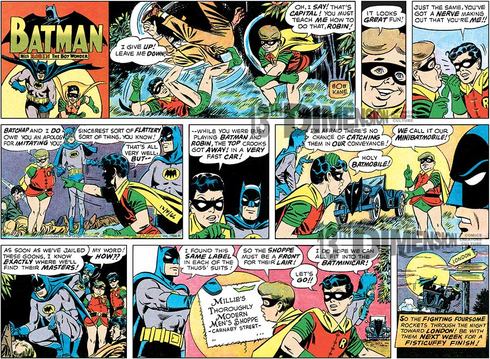 A Sunday strip, after restoration. Batman ™ and © 2014 DC Comics.