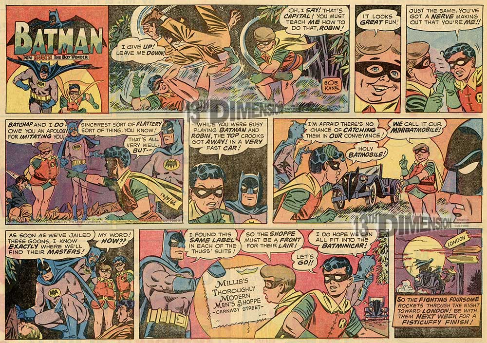 The original strip from above. Batman ™ and © 2014 DC Comics.
