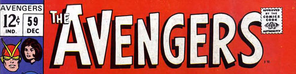 Masthead of Avengers #59 (December 1968) featuring Independent News logo