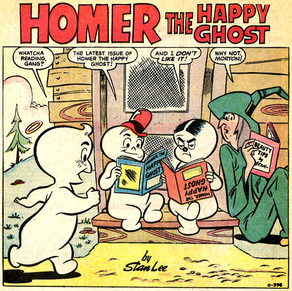 Panel from Homer, The Happy Ghost #1 (November 1969), script by Stan Lee, art by Dan DeCarlo.