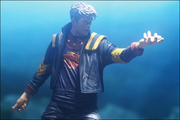 "Detail of the ""Man of Miracles"" action figure by McFarlane Toys"