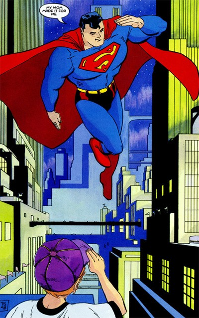 "Sale art from ""Superman For All Seasons"""