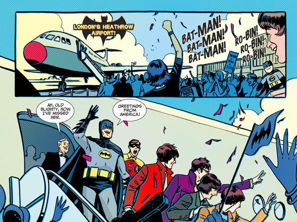 Batman '66 #10 (2013), script by Jeff Parker, art by Jonathan Case