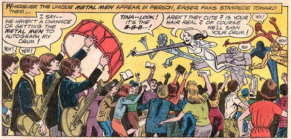 Metal Men #12 (1965), script by Bob Kanigher, art by Ross Andru and Mike Esposito