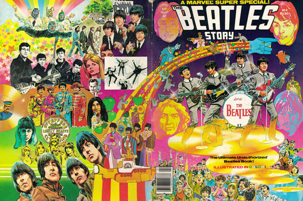 Marvel Super Special #4: The Beatles Story (1978), art by Tom Palmer