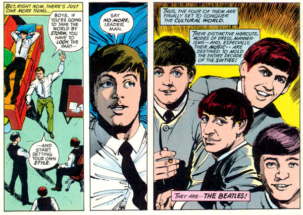 Marvel Super Special #4: The Beatles Story (1978), script by David Anthony Kraft, art by George Pérez and Klaus Janson