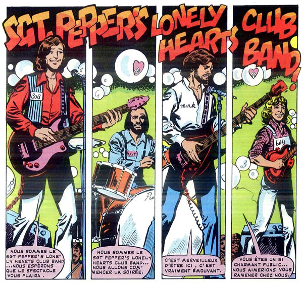 Sgt. Pepper's Lonely Hearts Club Band (French edition, 1979),  art by George Pérez and Jim Mooney