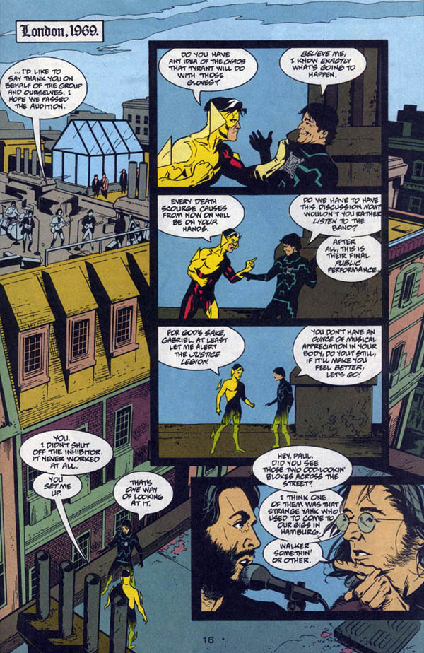 Chronos #1,000,000 (1998), script by John Francis Moore, art by J. H. Williams III and Mick Gray