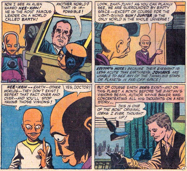 From Beyond the Unknown #17 (DC, 1972), script by Otto Binder, art by Carmine Infantino and Joe Giella