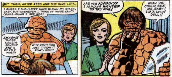 Fantastic Four #34 (1965), script by Stan Lee, art by Jack Kirby and Chic Stone