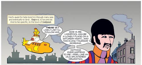 Yellow Submarine comic (Dark Horse, c. 1999, unpublished), art by Bill Morrison