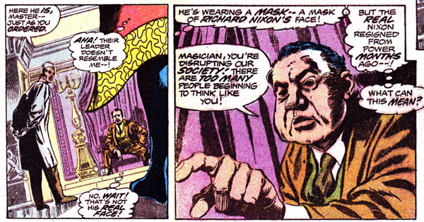 Doctor Strange #11 (Marvel, 1975), script by Steve Englehart, art by Gene Colan and Tom Palmer