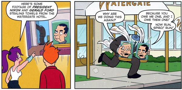 Futurama Comics #64 (Bongo, 2012), script by Ian Boothby, art by James Lloyd and Dan Davis
