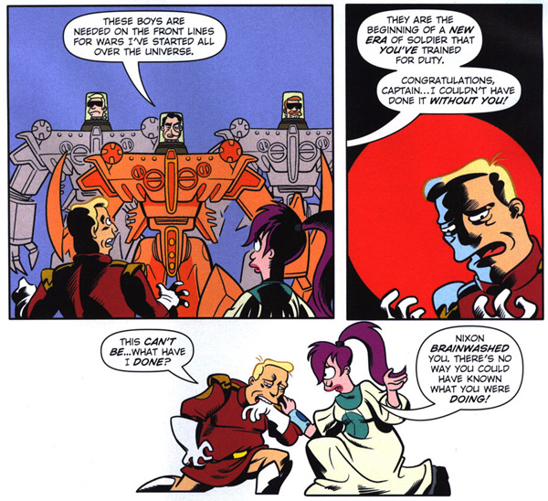 Futurama Comics #41 (Bongo, 2009), script by Eric Rogers, art by John Delaney and Dan Davis