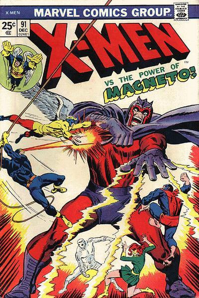 X-Men #91 by Roy Thomas & Stan Lee (w), George Tuska, Steve Ditko, & John Tartaglione (a), John Buscema (cover) 1974