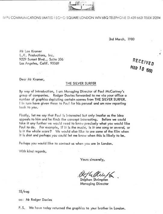 The original letter of inquiry.
