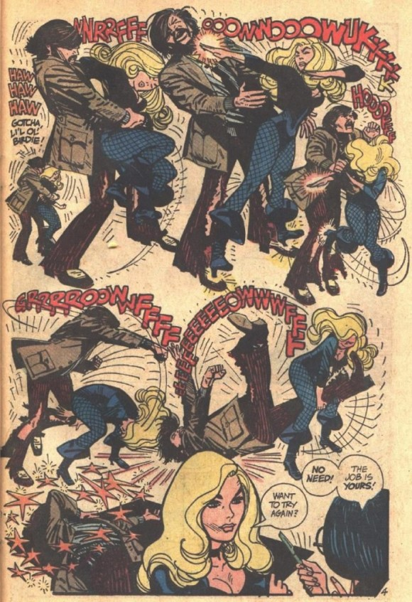 A superb Alex Toth page from a Black Canary adventure in, well, Adventure Comics #491