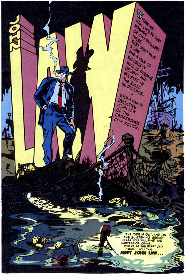 John Law, Detective #1 (April 1983), script and art by Will Eisner, colors by Klaus Janson
