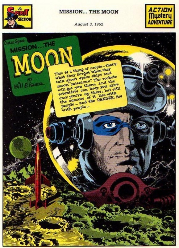 """Mission ... The Moon"" (August 3, 1952), script by Jules Feiffer, art by Wally Wood"