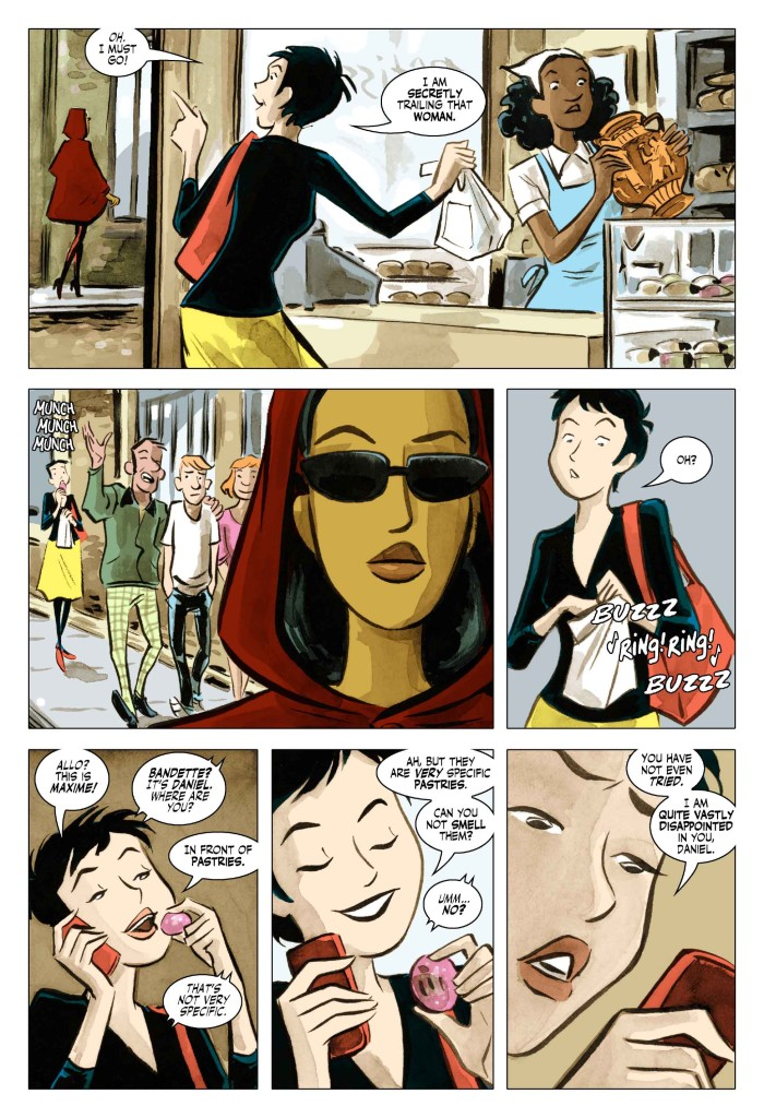 Bandette, by Paul Tobin and Colleen Coover, published by Chris Roberson's MonkeyBrain Comics.