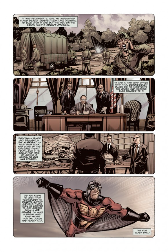 From Captain Midnight #7. Writer: Joshua Williamson. Artist: Eduardo Francisco.