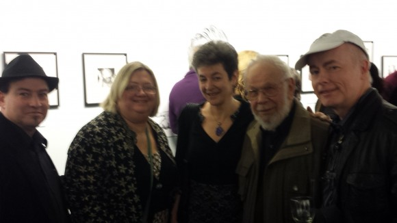 Art dealers Richard & Kathy Greene with Columbia University's Librarian and Comics Archivist Karren Green, MAD's Al Jaffee, and Author, Agent, Historian, J. David Spurlock.