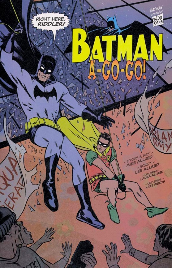 The Batman '66 homage before the Batman '66 comic. From Solo #7.
