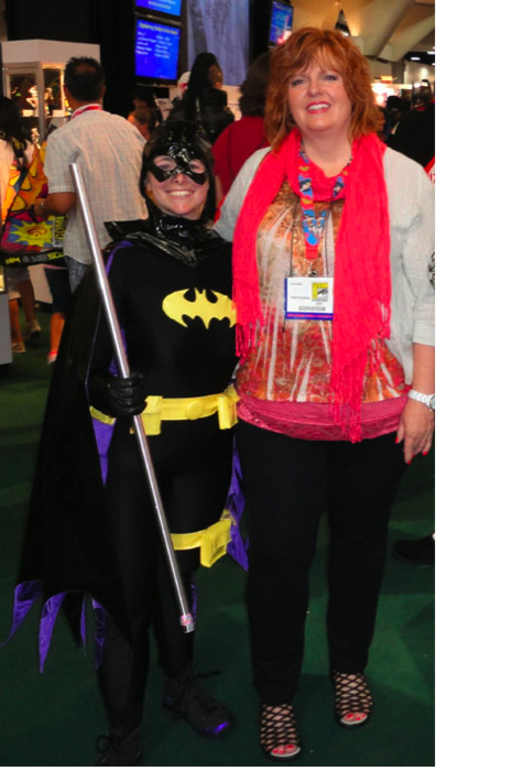 The Batgirl of San Diego, with writer Gail Simone. H/T: DCWomenKickingAss