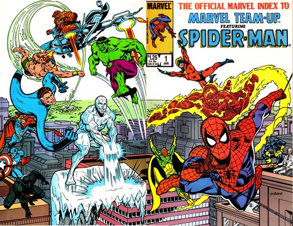 The Official Marvel Index to Marvel Team-Up #1 (1986), art by Keith Pollard