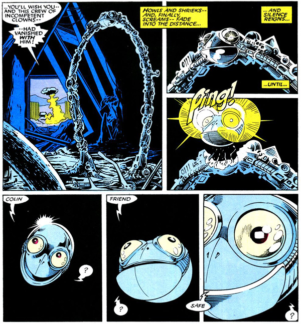 from Excalibur #2 (1988), script by Chris Claremont, art by Alan Davis and Paul Neary
