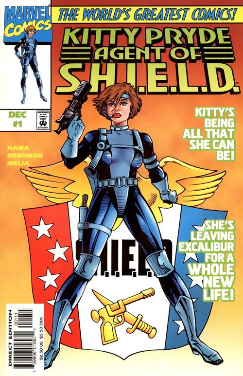 cover of Kitty Pryde, Agent of S.H.I.E.L.D. #1 (1997), art by Jesus Redondo and Sergio Melia