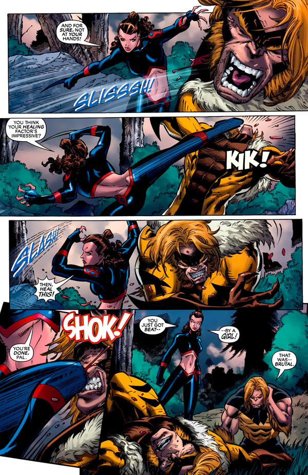 from X-Men Forever 2 #7 (2010), script by Chris Claremont, art by Ron Lim and Cory Hamscher