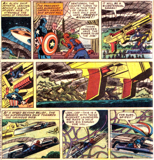 "Advertisement for ""Ricochet Racers"" in Marvel Team-Up #34 (1975)"