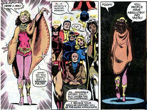 from Uncanny X-Men Annual #5 (1981), script by Chris Claremont, art by Brent Anderson and Bob McLeod