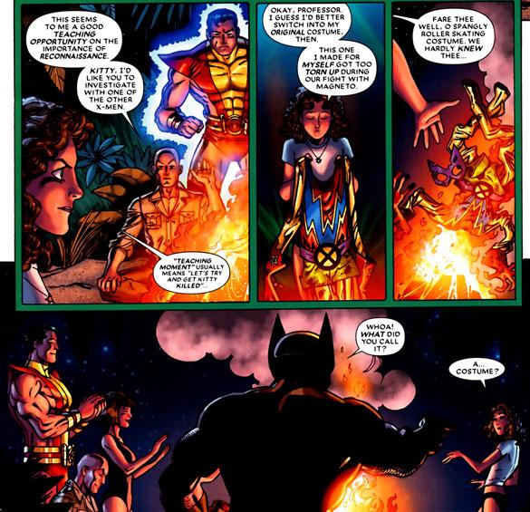 from Wolverine: First Class #12 (2009), script by Fred Van Lente, art by Scott Koblish