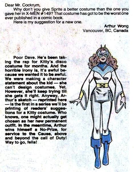 from Uncanny X-Men #156 (1982), art by Arthur Wong