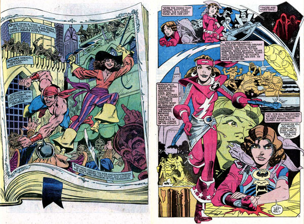left: from Uncanny X-Men #153 (1982), script by Chris Claremont, art by Dave Cockrum and Joe Rubenstein / right: from Uncanny X-Men Annual #8