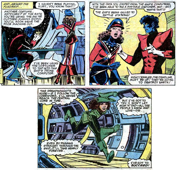 from Uncanny X-Men #157 (1982), script by Chris Claremont, art by Dave Cockrum and Bob Wiacek