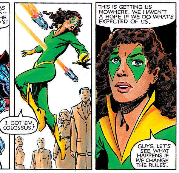 from Marvel Graphic Novel #5: X-Men: God Loves, Man Kills (1982), script by Chris Claremont, art by Brent Anderson