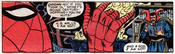 Marvel Team-Up #112 (1981), script by J. M. DeMatteis, art by Herb Trimpe and Mike Esposito