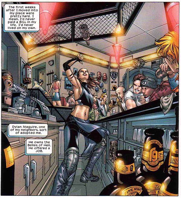 from Mekanix #1 (2002), script by Chris Claremont, art by Juan Bobillo and Marcelo Sosa