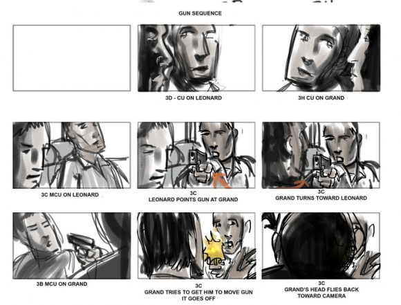 Storyboards for the film component, from the Kickstarter appeal.