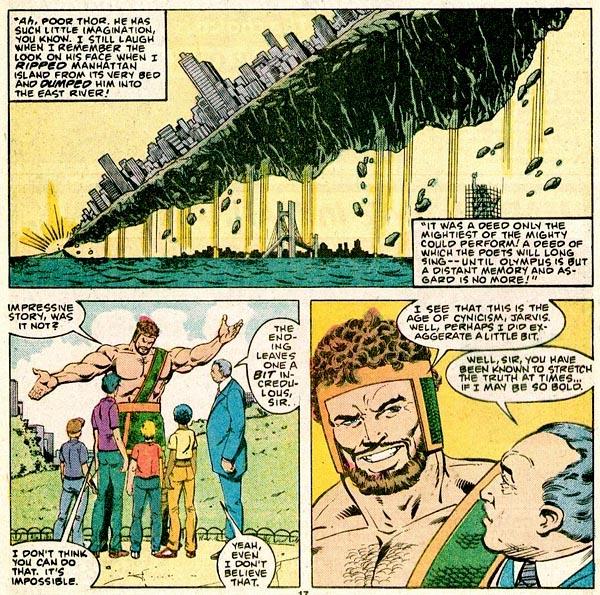 Thor #356 (1985), script by Bob Harras, art by Jackson Guice and Bob Layton