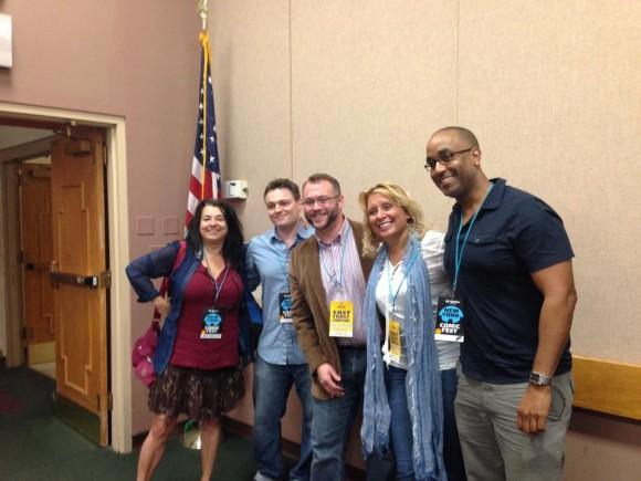 Annie Nocenti, Scott Snyder, Forrest Helvie, Christy Blanch and Shawn Martinbrough at New York Comic Fest in 2014!