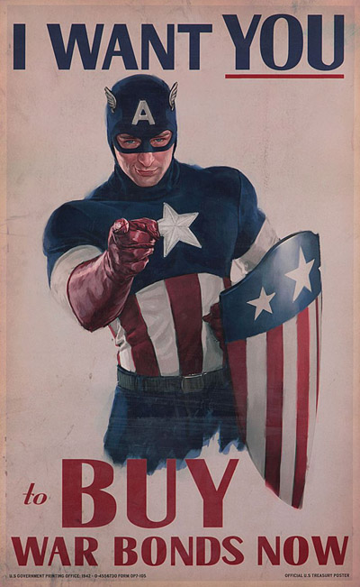 "Captain America war bonds poster from ""Captain America: The First Avenger"""