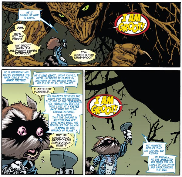 "panels from ""Timely, Inc."" in Annihilators #1 (2011), script by Dan Abnett and Andy Lanning, art by Timothy Green"