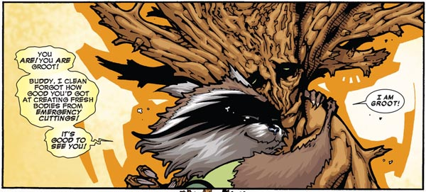 "panel from ""Timely, Inc."" in Annihilators #1 (2011), script by Dan Abnett and Andy Lanning, art by Timothy Green"