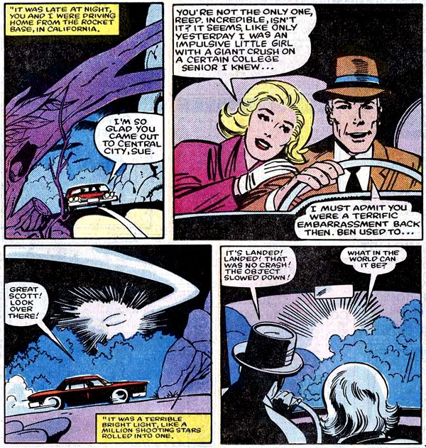 panels from Fantastic Four #271 (1984), script and art by John Byrne